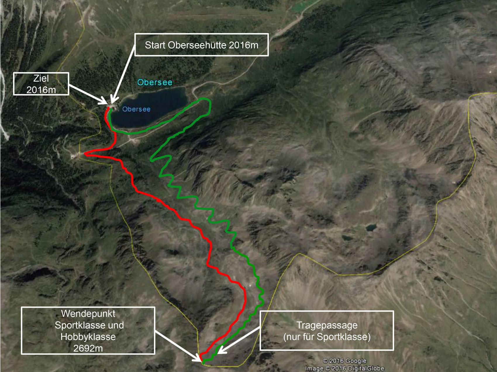 Die Strecke der Oberseetrophy 2018
