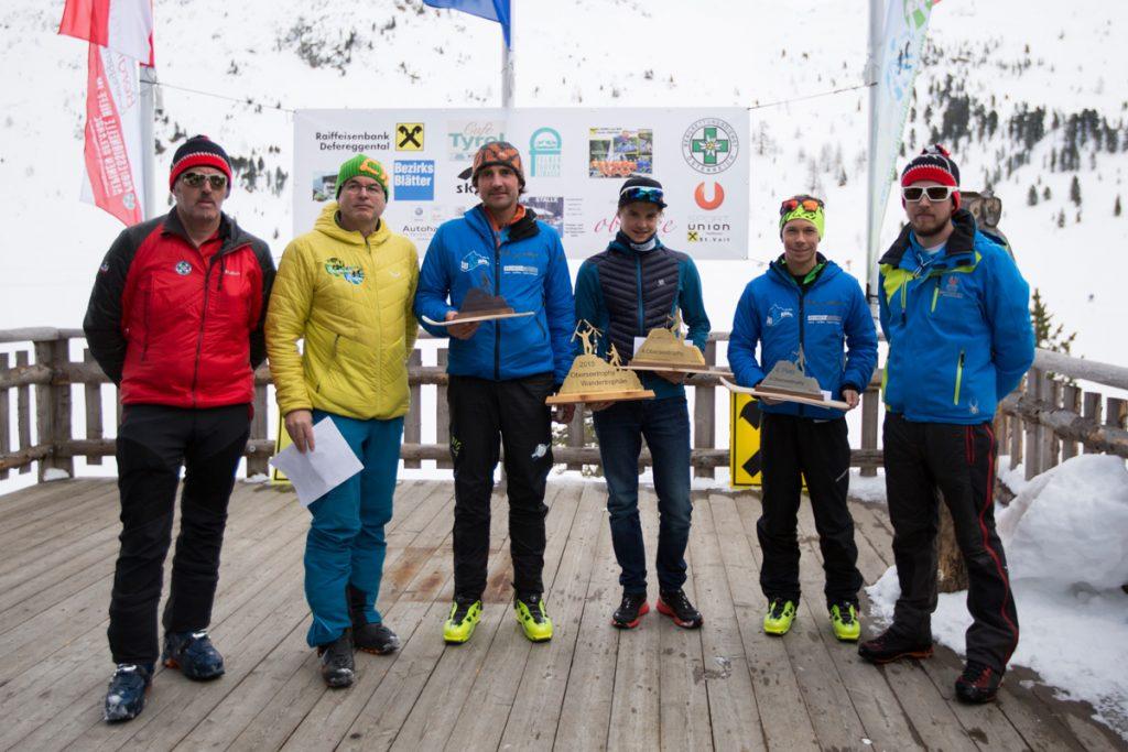 Die Top 3 der Sportklasse Stefan Knopf, Michael Nocker und Alfred Dorfmann